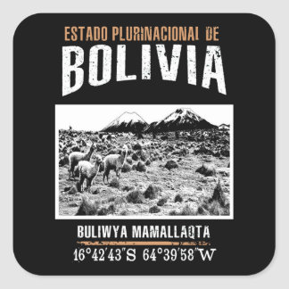 Bolivia Square Sticker