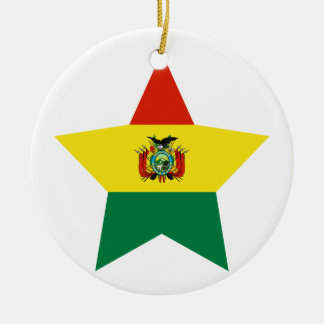 Bolivia Star Ceramic Ornament