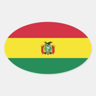 Bolivia State Flag Oval Sticker