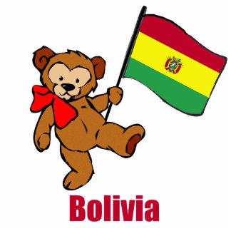 Bolivia Teddy Bear Photo Sculpture Ornament