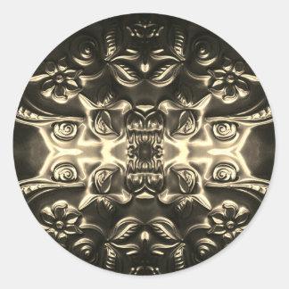 Bolivian Armor Embossing Art Classic Round Sticker