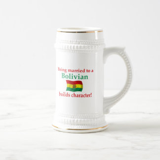 Bolivian Builds Character 18 Oz Beer Stein