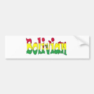 Bolivian Bumper Sticker