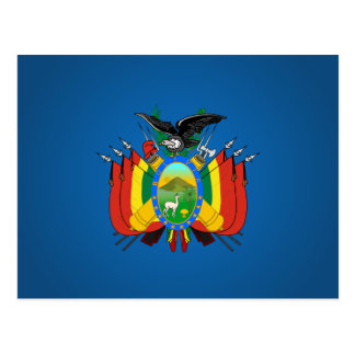 Bolivian coat of arms postcard