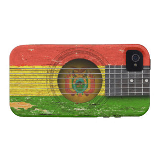 Bolivian Flag on Old Acoustic Guitar Case For The iPhone 4