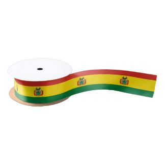 Bolivian flag ribbon satin ribbon