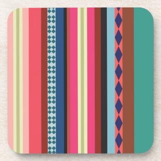 Bolivian pattern drink coaster