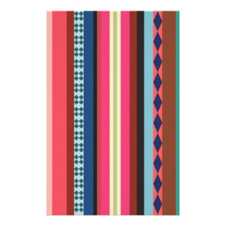 Bolivian pattern stationery design