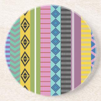 Bolivian stripes beverage coaster