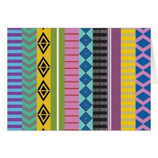 Bolivian stripes card