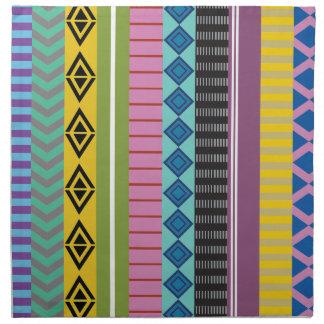 Bolivian stripes cloth napkins
