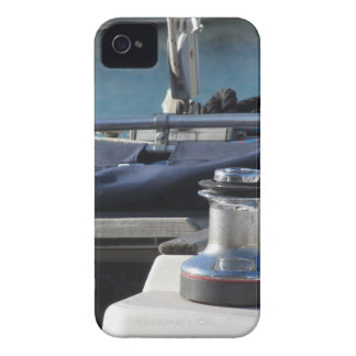 Bollard and mooring ropes on sailing boat bow Case-Mate iPhone 4 case