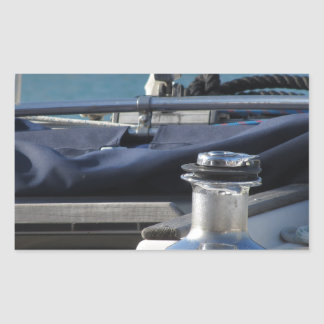 Bollard and mooring ropes on sailing boat bow sticker