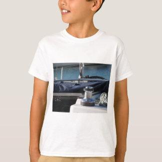 Bollard and mooring ropes on sailing boat bow T-Shirt