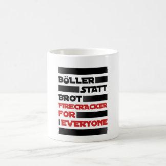 Böller instead of bread! coffee mug
