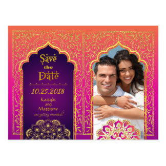 Bollywood Arabian Nights Save the Date Postcard