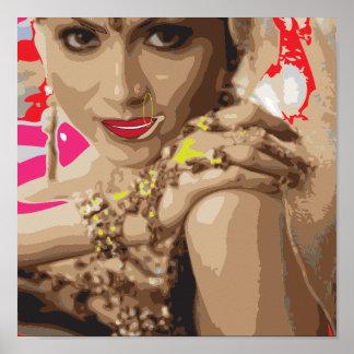 Bollywood art vector Based Poster