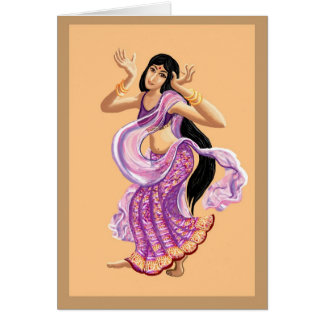 Bollywood dancing card