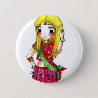 Bollywood - Jessica 2 Inch Round Button