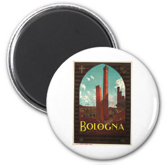 Bologna Bononia Italy Vintage Travel Magnet