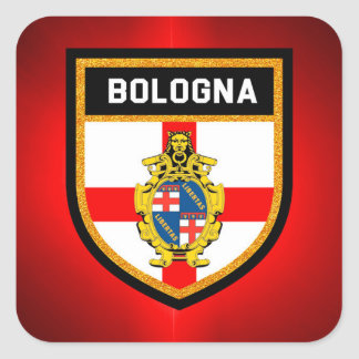 Bologna Flag Square Sticker
