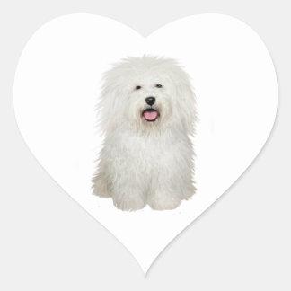 Bolognese (A) Heart Sticker