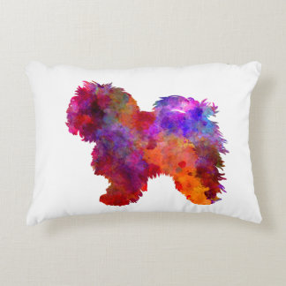 Bolognese in watercolor decorative pillow