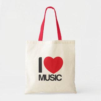 Bolsa tela I love Music Budget Tote Bag
