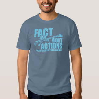 Bolt Actions Speak Louder Than Words - Blu Graphic Tees