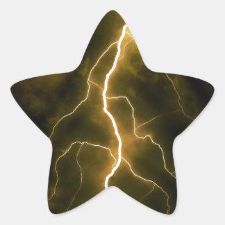 Bolt of Lightening Star Sticker