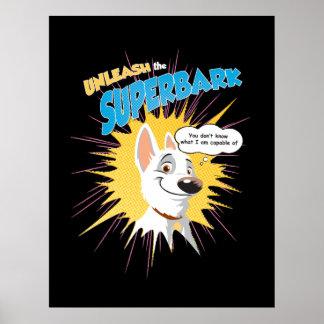 "Bolt ""unleash the superbark"" thought bubble Disney Poster"