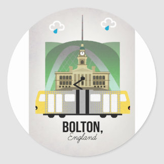 Bolton Classic Round Sticker