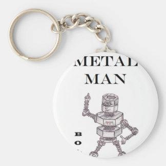 Bolts - Heavy Metal Man Basic Round Button Keychain