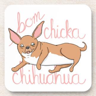 Bom Chicka Chihuahua Funny Dog Pun Coaster