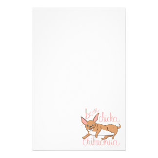 Bom Chicka Chihuahua Funny Dog Pun Stationery