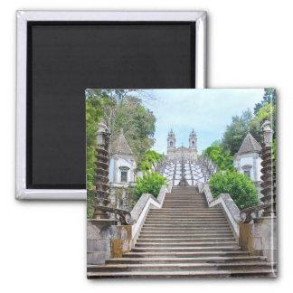 Bom Jesus Sanctuary, Braga, Portugal Square Magnet