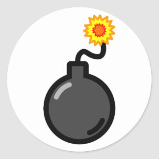 Bomb! Classic Round Sticker