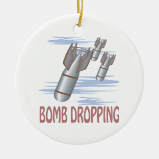 Bomb Dropping Ceramic Ornament