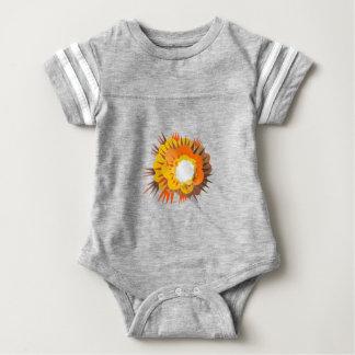 Bomb Explosion Retro Baby Bodysuit
