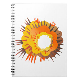 Bomb Explosion Retro Notebook