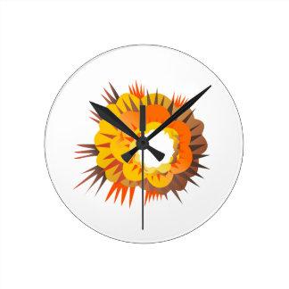 Bomb Explosion Retro Round Clock