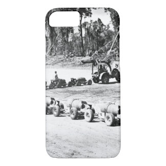 Bomb handling at an advanced Pacific_War image iPhone 7 Case