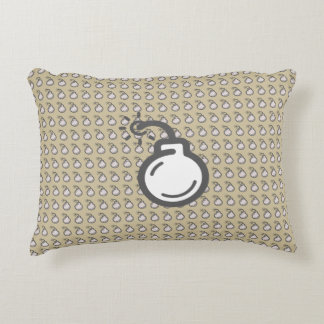 Bomb Icon Accent Pillow