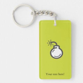 Bomb Icon Keychain