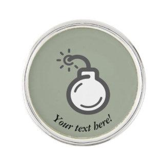 Bomb Icon Lapel Pin
