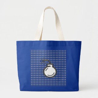 Bomb Icon Large Tote Bag