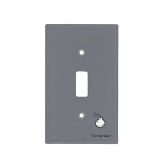 Bomb Icon Light Switch Cover