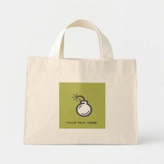 Bomb Icon Mini Tote Bag