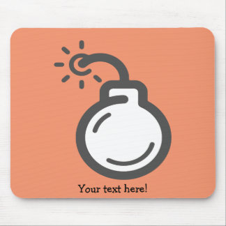 Bomb Icon Mouse Pad