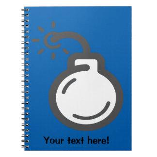 Bomb Icon Notebooks